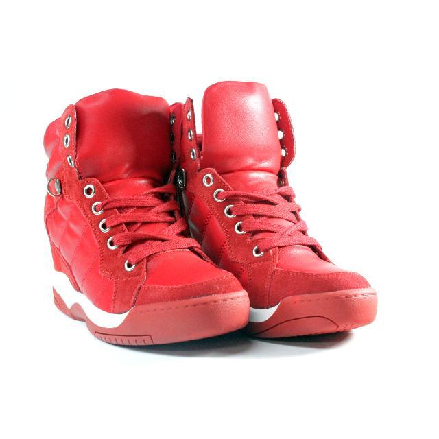 Adidasi cu platforma Day rosii