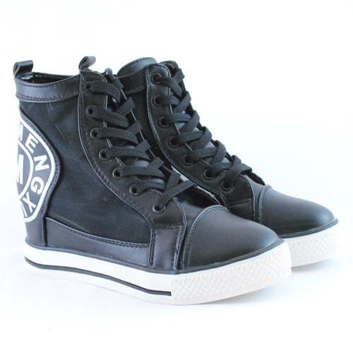Sneakers dama cu platforma de vara Ranka negru