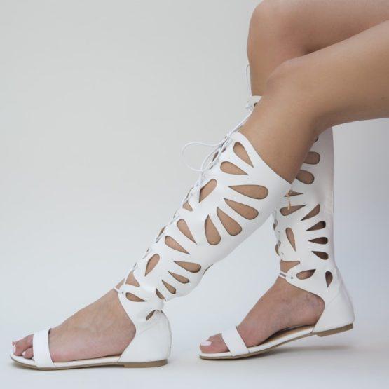Sandale Gladiator Isadora albe (1)
